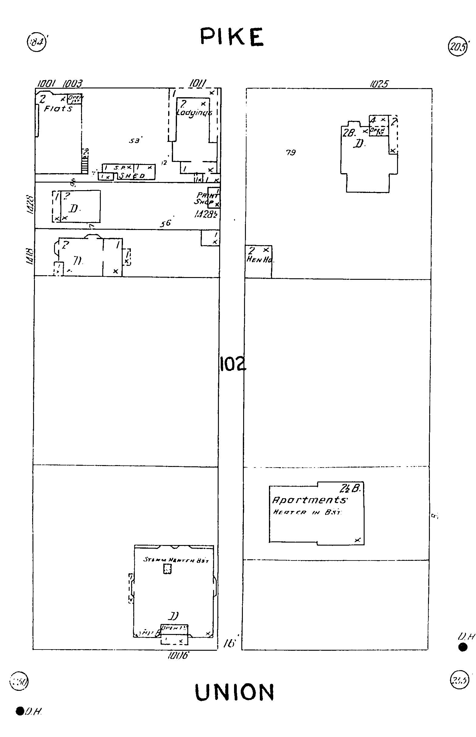 Sanborn Map - 1904-1905 - Block102